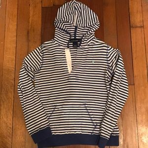 Polo white and blue hoodie